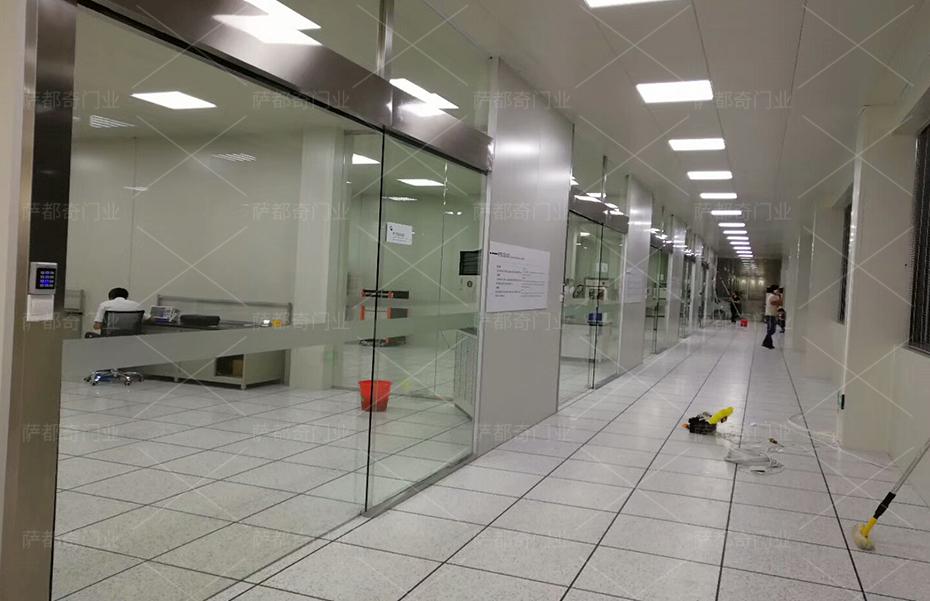 玻璃感应门2